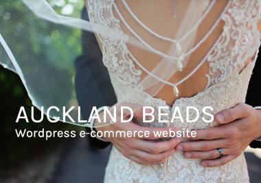 Auckland Beads ecommerce website