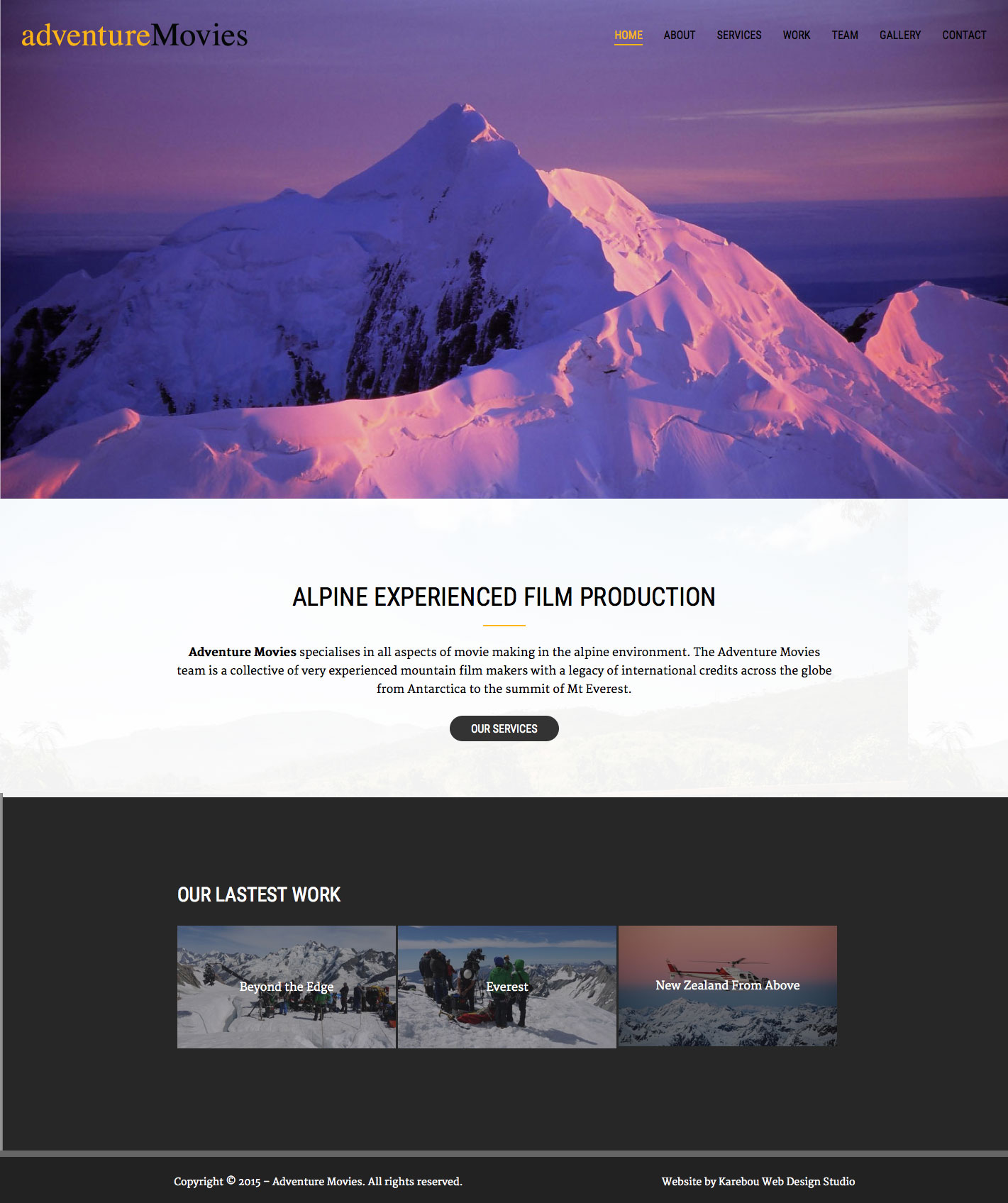 Adventure Movies express website design