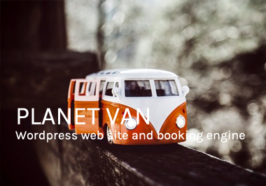 Planet Van website design