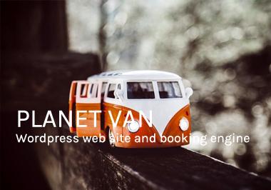 Planet Van website design