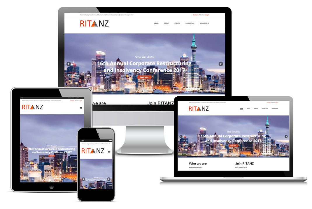 RITANZ website design