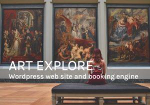 Art Explore website design