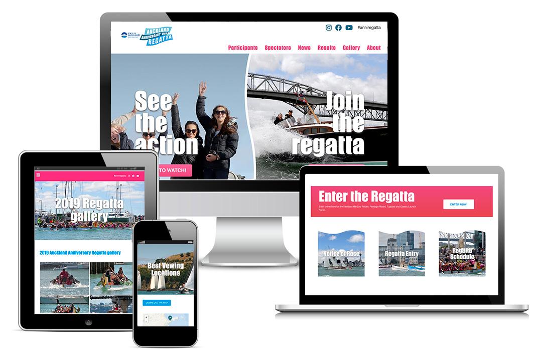 Website redesign for Auckland Anniversary Day Regatta