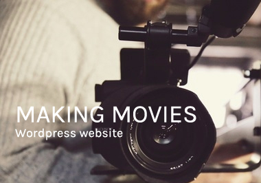 Making Movies WordPress website