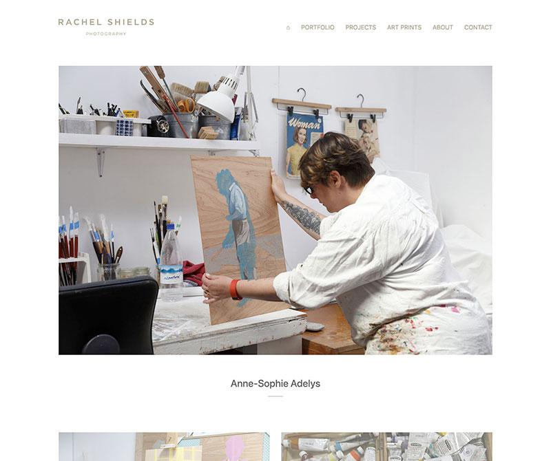Screenshot of photography website