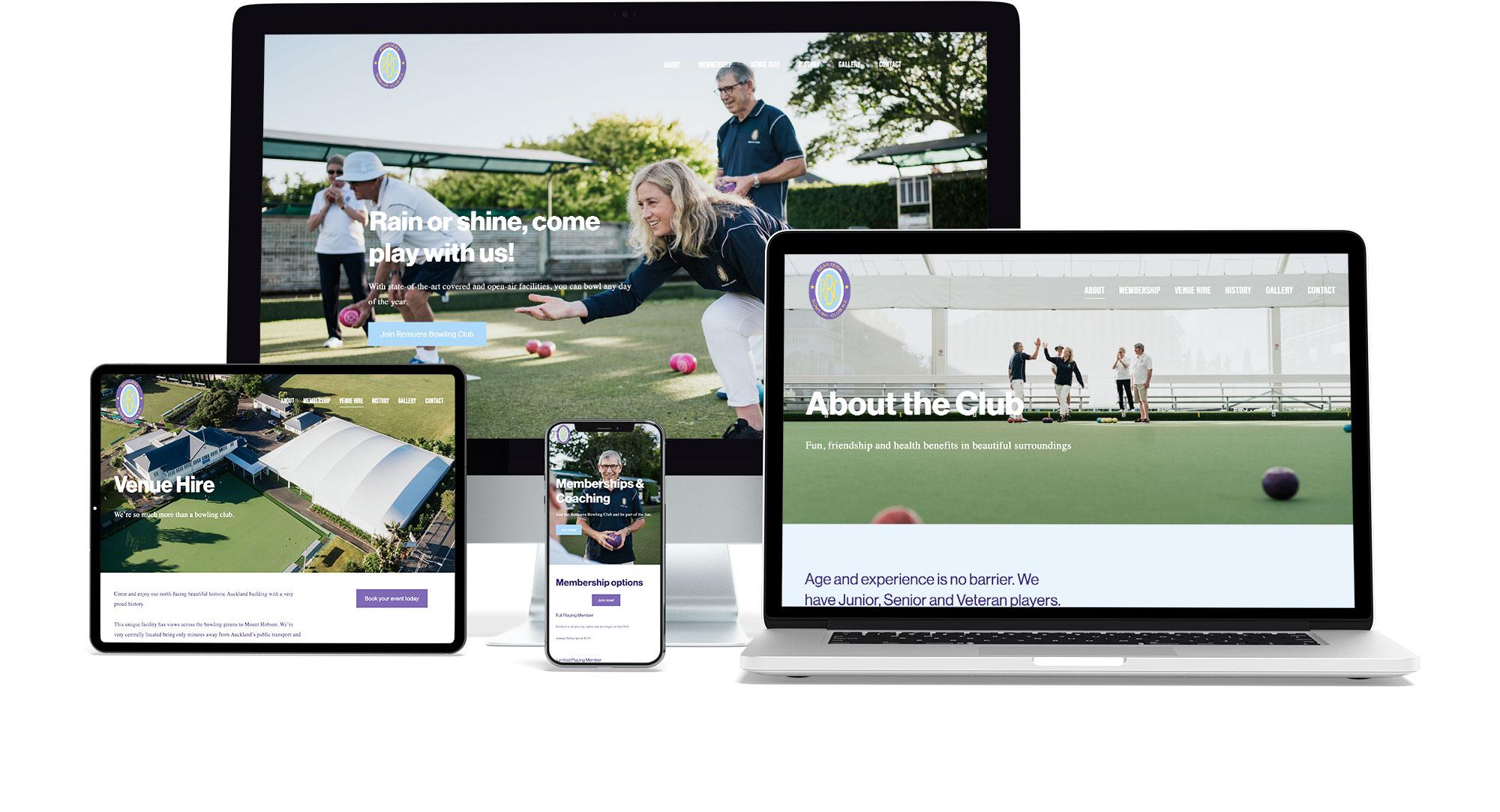 Remuera Bowling Club website
